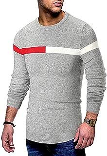 Leomodo Color Spliced Casual Long Sleeve Sweater