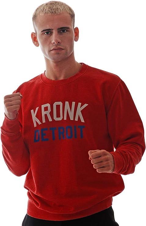 KRONK Sweat Detroit Ajustement r/égulier pour Homme Boxe