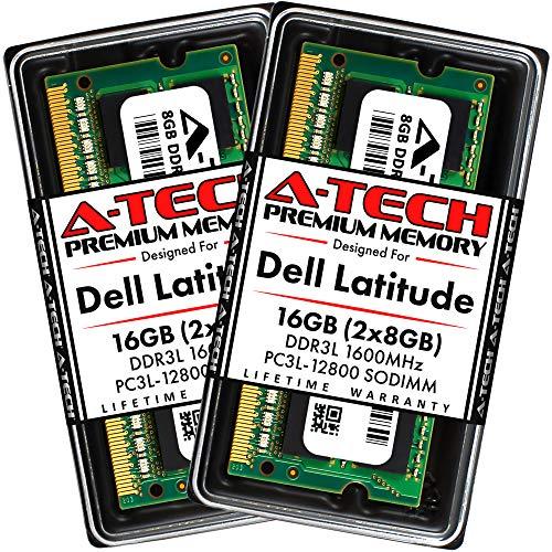 A-Tech 16GB (2x8GB) RAM for Dell Latitude E6530, E6430, E6430s, 6430u, E6330, E6230, E5530, E5430 | DDR3/DDR3L 1600MHz SODIMM PC3L-12800 Laptop Memory Upgrade Kit