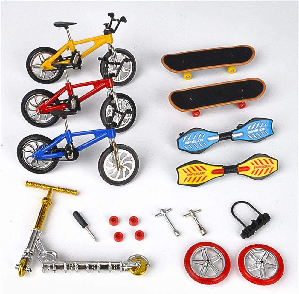 Nuoyi 18pcs Party Discount mail order Finger Denver Mall Toy Mini Sports Bike Skateboards