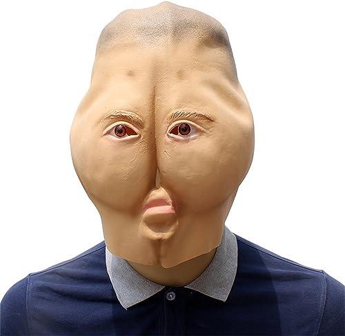 KTYX Halloween Karneval Funny Adjusting 蛊 Spielzeug Maske Hut Zubeh Latex Kopfbedeckung Maske