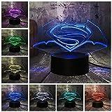 Luz de noche 3D Luz de noche LED Lámpara de mesa de escritorio 7 Cambio de color Linterna Controlador USB Juguete de regalo para niños Lámpara de mesa Decoración para el hogar Regalo Regalo para niños