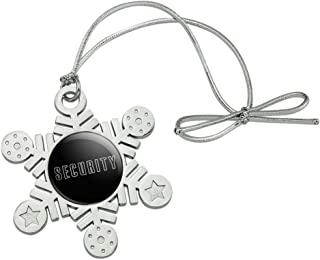 GRAPHICS & MORE Security Metal Snowflake Christmas Tree Holiday Ornament