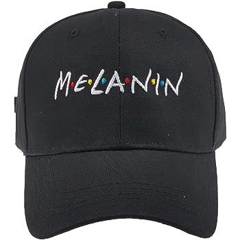 Women Men MELANIN Letters Embroidered Baseball Cap Unisex Hat Adjustable Dad Hat