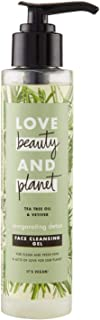 Love Beauty and Planet Face Cleansing Gel Invigorating Detox Tea Tree Oil & Vetiver, 125 ml