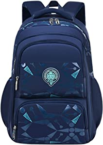 Uniuooi Primary School Bag Backpack for Boys Age 7-12 Years Large Navy