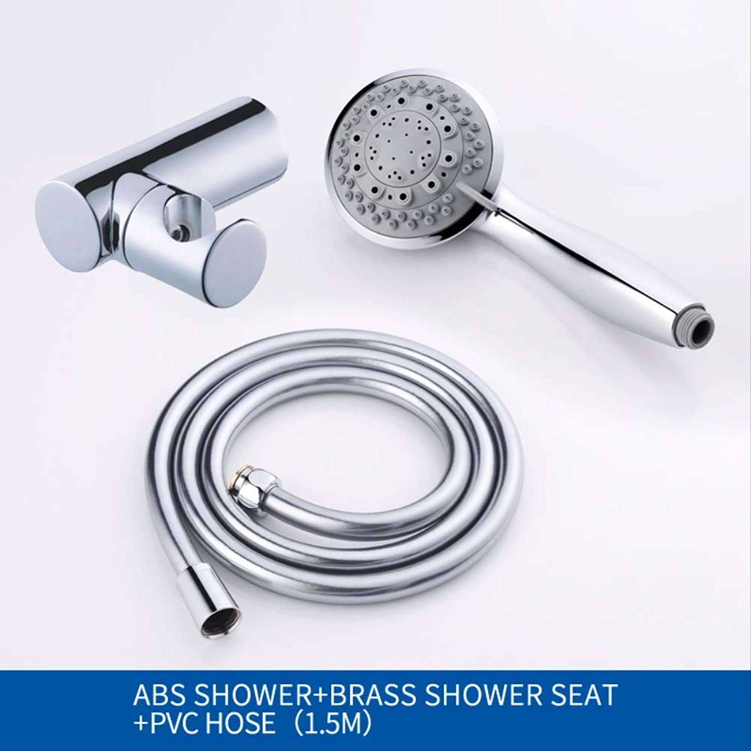 OHKJ Shower Head 7 Modes Hand Hold Shower Set Chrome Chrome Chrome Plated Rain Shower Head Brass Holder And His Fashion bfaa13