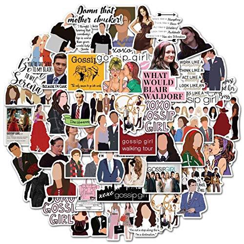 WYZN 50 unids Gossip Cartoon Girl Sticker Personalidad Creativa Niños Scrapbook Decoración Notebook Computer Impermeable Scooter Vinilo Adulto Adolescente Graffiti Sticker