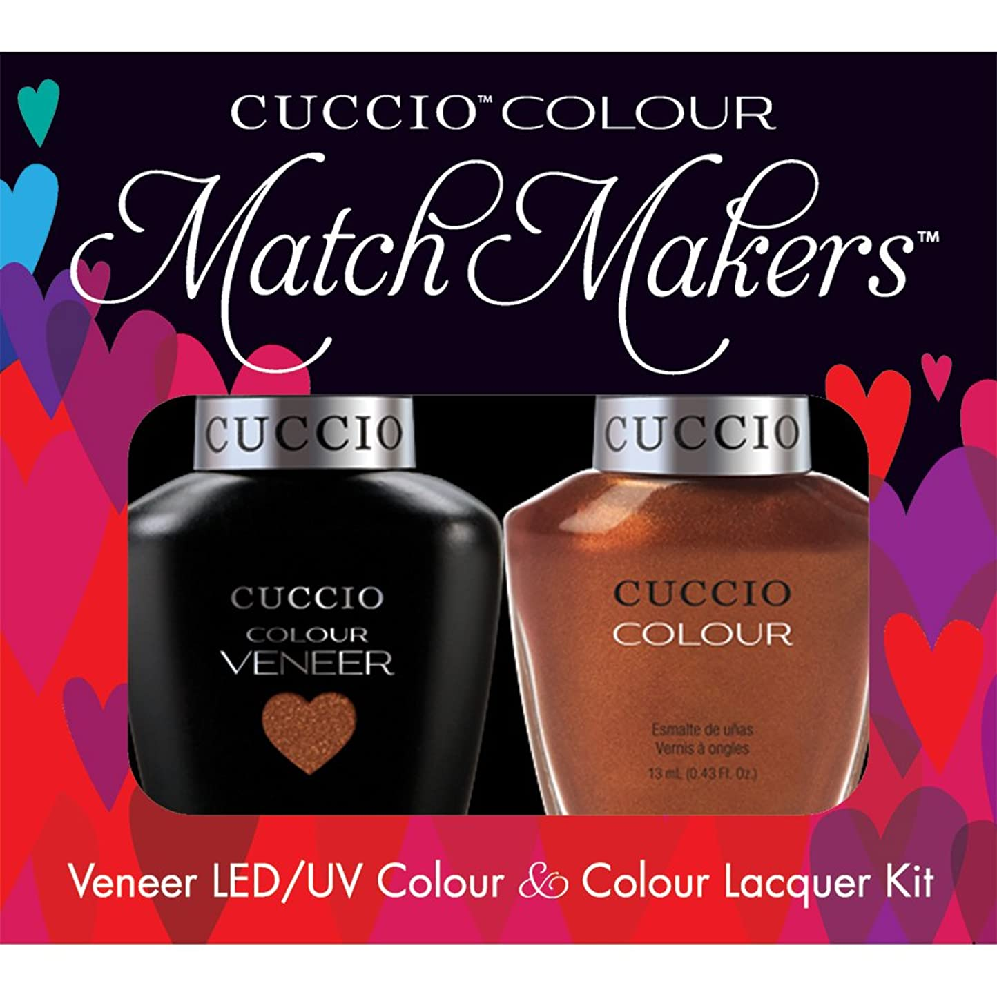 端接地メンターCuccio MatchMakers Veneer & Lacquer - Can Never Say Mumbai - 0.43oz / 13ml Each