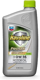 HAVOLINE 223517720 Pro DS Full Synthetic Motor Oil 0W16 Dexos, 1 Quart