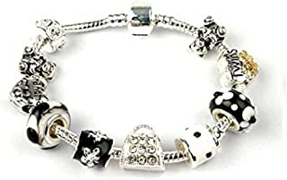 Liberty Charms Grandma 'Twins' Silver Plated Charm/Bead Bracelet Ideal