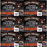 JAVA HOUSE Cold Brew Coffee, Dark Roast Coffee Concentrate Liquid Pods - 1.35 Fluid Ounces (6 count liquid pods per box) Enjoy Hot Or Iced (Sumatran, 6 boxes x 6 pods = 36 Count)