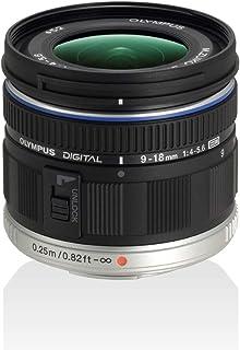 Olympus M.Zuiko Digital ED 9-18 mm F4.0-5,6 lins, vidvinkelzoom, lämplig för alla MFT-kameror (Olympus OM-D & PEN-modeller...