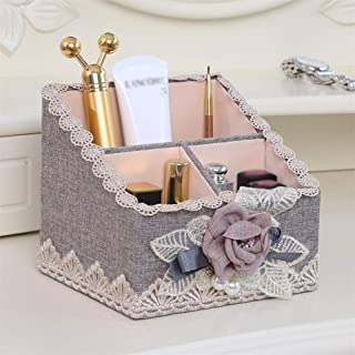 Cosmetic Storage Rack Makeup Management Equipment - MDF + Cotton Material, Light and Easy to take, Stylish and Simple, Lipstick Cosmetics Skin Care Remote Control Bedroom Living Room Balcony Dressing