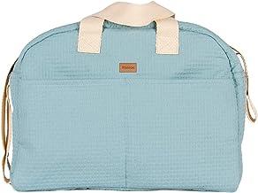Kiwisac Sweet Mint Bolso Maternal Bebé Unisex con un Diseño Original y Elegante con Asas Cortas/Bolsa de Mamá con Bandolera para Colgar en el Carro, Color Menta | 40x14x30 cm