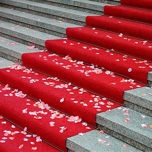 Alfombra de pasillo roja – Alfombra de moqueta de poliéster – por medio metro – Ancho 100 cm – Multiuso para pasarela, entrada, tienda, casa, oficina, ceremonia o boda