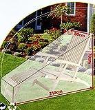 Schutzhülle Gartenliege 2 Stück -K&B Vertrieb- Sonnenliege Gartenmöbel Abdeckplane Abdeckung 137