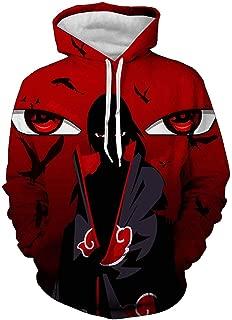 Men Naruto 3D Print Pullover Hoodie Sweatshirt with Front Pocket