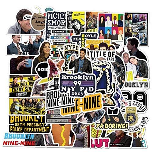 Zonster 50pcs Aufkleber Brooklyn Nine-Nine Graffiti Patches Skateboard-Aufkleber Für Laptop-Aufkleber-Wand-dekor-Tagebuch