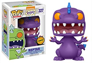 Funko Reptar (Edición de Chase): Nickelodeon Rugrats x POP! Figura de vinilo de animación y 1 POP. Paquete de protectores gráficos de plástico PET [# 227 / 13981 - B]