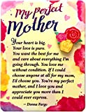 Blue Mountain Arts Miniature Easel Print with Magnet 'My Perfect Mother' 4.9 x 3.6 in., Sentimental Mother's Day, Christmas, Birthday, or 'I Love You' Gift from a Son or Daughter, by Donna Fargo