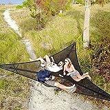 RDJSHOP Hamaca de múltiples personas, hamaca de árbol de triángulo portátil, hamaca de acampada aérea gigante, Multi Persona3 Punto de lona Camping Easy Use Asiento de silla colgante para exteriores (