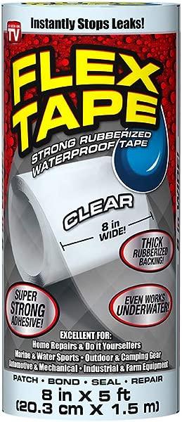 Flex Tape Rubberized Waterproof Tape 8 X 5 Clear 2 6 Lb