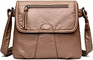 Bageek Women Shoulder Purse Crossbody Purse Casual Soft Flap Cover Messenger Bag for Travel