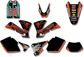Moto-Cross Motorrad-Team Grafik /& HINTER Abziehbild-Aufkleber for KTM EXC 200 250 300 125 400 450 525 2003