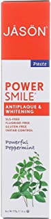 JASON Powersmile Whitening Toothpaste, Powerful Peppermint, 6 oz Each (2 Pack)