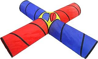 tält pop up 4 sätt lek tunnel, kryptunnel för pojkar, flickor, spädbarn och småbarn lektunnel för förskola camping lek (st...