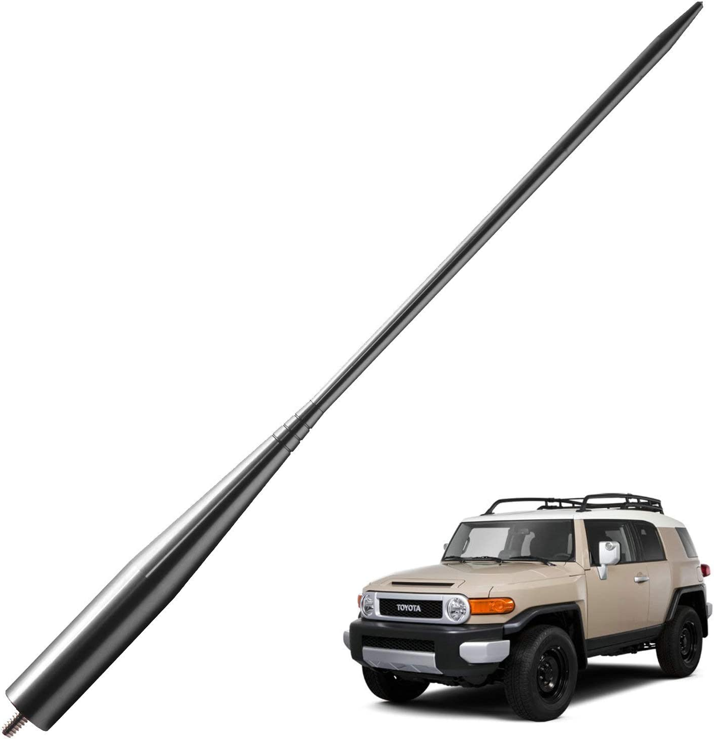 13 inches-Titanium JAPower Replacement Antenna Compatible with Toyota Tundra 2014-2018