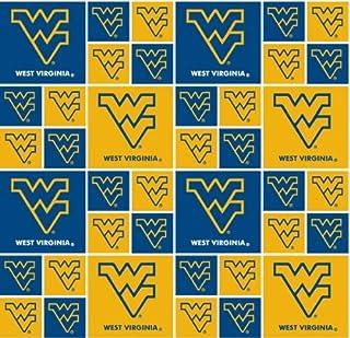 Cotton University of Michigan Wolverines U of M Logos Squares College Sports Team NCAA Digital Print Cotton Fabric Print by The Yard MCHG-1158