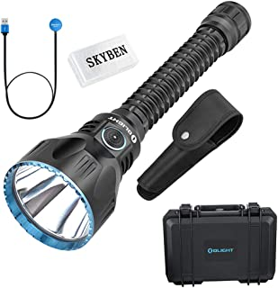 OLIGHT Javelot Pro 2100 Lumes Cree XHP35 HI NW LED Dual Switches Rechargeable Rifle Tactical Flashlight with Built-in Battery Pack and SKYBEN Battery Case