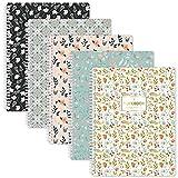 Carnet de notes A4 ligné Journal - Paquet de 5 carnets A4 ligné avec anneau souple, 29,6 x 23 cm, facilement déchirable