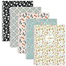 Indeme Notebooks A4 Lined Journal - 5 Pack Lined A4 Composition Notebook Journal with Soft Ring, Campus Project Exercise Book 29.6 X 23 cm, Easily Tear Off