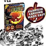 Pumpkin Punchers Pumpkin carving kit for kids | Pumpkin carving tools | Pumpkin carving stencils | Pumpkin carver kit | safe pumpkin tools (24 pieces)