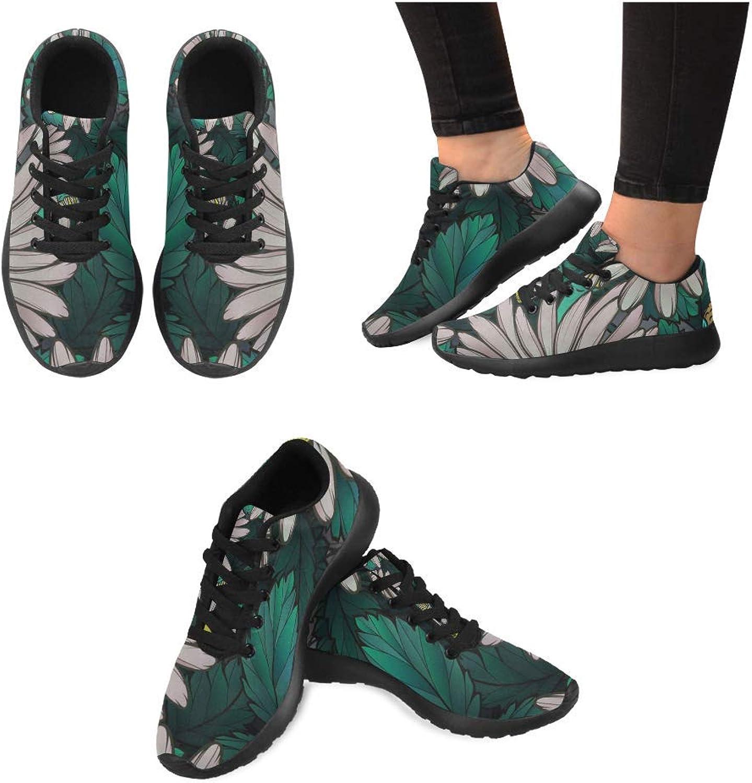 InterestPrint Women Lightweight Casual Sneaker Running shoes Chamomile Prints
