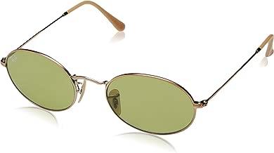Ray-Ban RB3547N Oval Evolve Photochromic Sunglasses, Copper/Green Photochromic, 54 mm