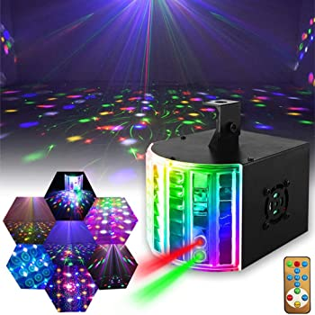 Disco Lights LED Dual-hole Multi-picture Stage Lights Suitable for Halloween Home Bar KTV