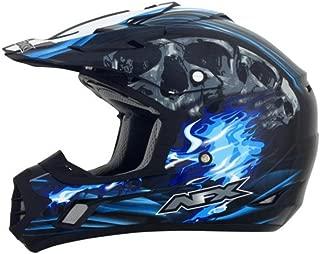 AFX Inferno Water Decals Changes Adult FX-17 Dirt Bike Motorcycle Helmet - Black/Blue / 3X-Large