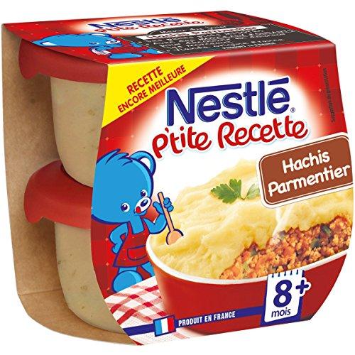 Nestlé Bébé P'tite Recette Hachis Parmentier - Plat complet dès 8 mois - 2 x 200g - Pack de 8 ( 16 Plats )