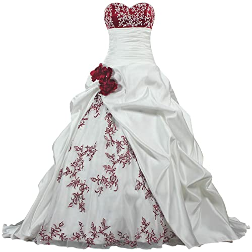 Red And White Wedding Dresses.Red And White Wedding Gown Amazon Com