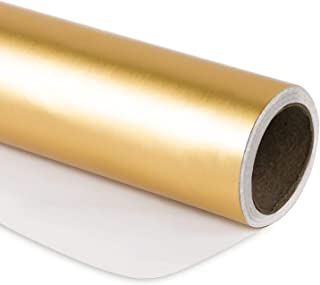 gold deer wrapping paper