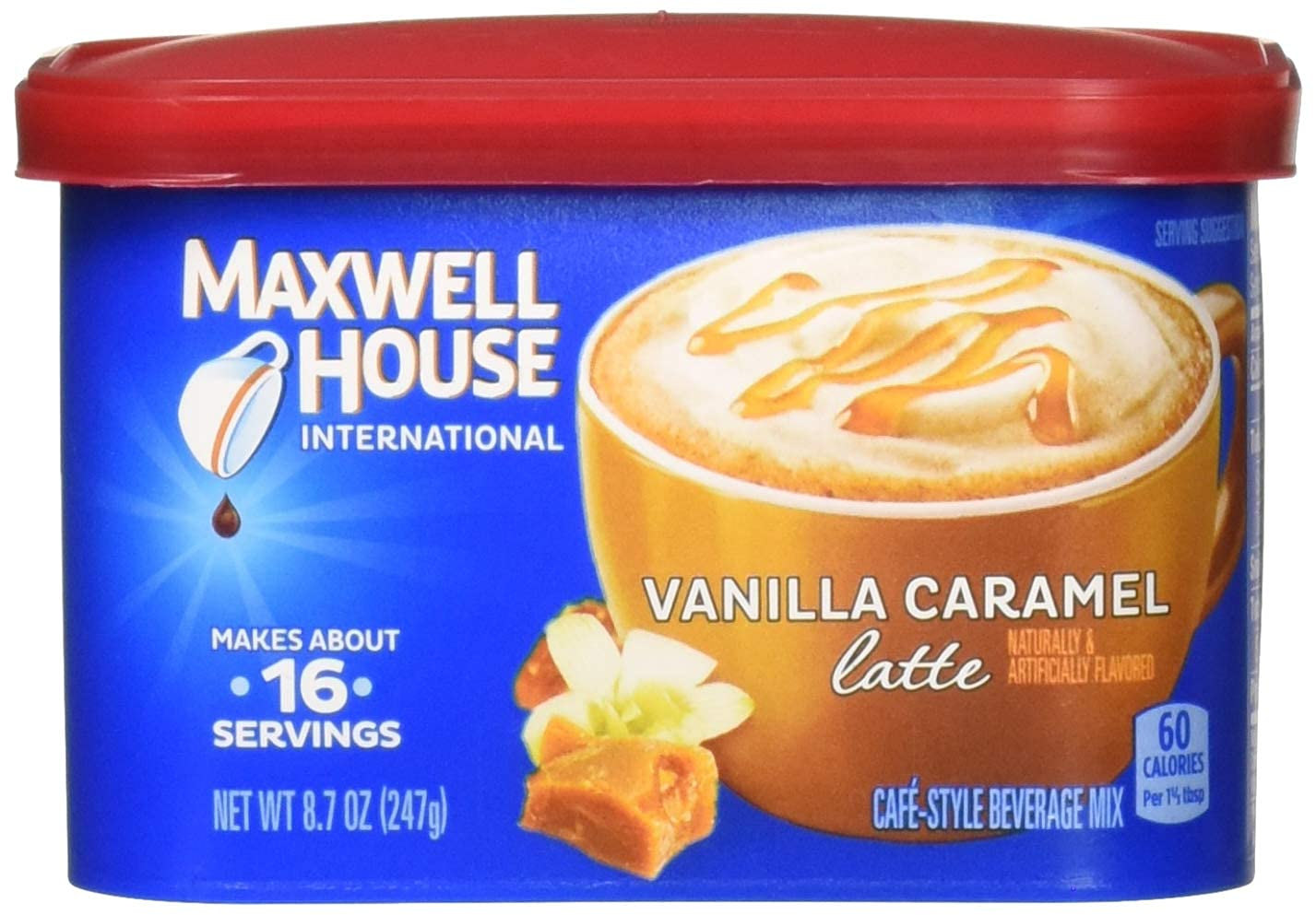 Maxwell House International Cafe OFFicial Coffee Instant Vanill Flavored Superior