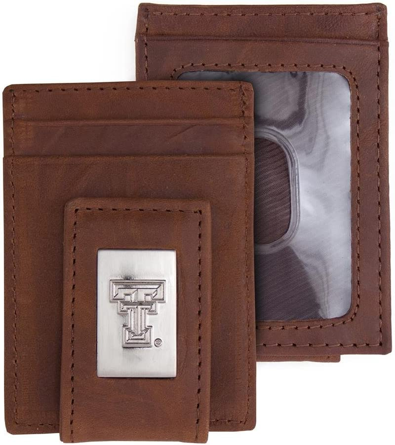 Eagles Wings Texas Tech University Leather Front Ranking TOP14 W Max 45% OFF Pocket Wallet