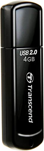 Transcend JetFlash 350 4GB USB 2.0 Pen Drive(Black) product image