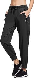 Women's Lightweight Running Pants Woven Joggers Sun Protection UPF 50+ Zipper Pockets