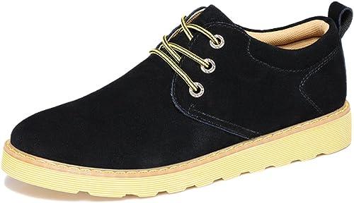 WLJSLLZYQ Wildleder Herrenschuhe im Herbst Protokollierung von England Schuhe Atmungsaktive Freizeitschuhe England Protokollierung Schuhe