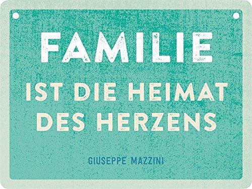 Familie ist die Heimat des Herzens: Schild zum Aufhängen